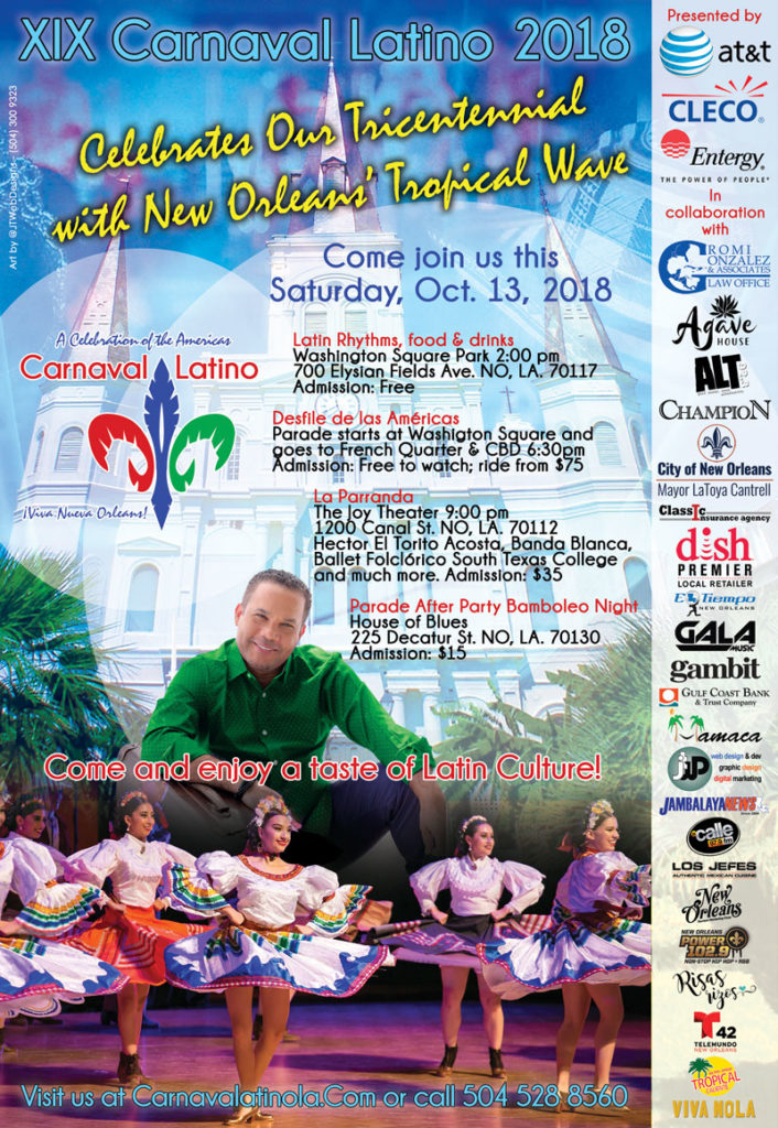 2018 Carnaval Latino New Orleans